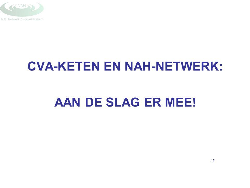 CVA-KETEN EN NAH-NETWERK: AAN DE SLAG ER MEE! 15