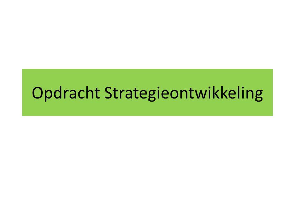 Opdracht Strategieontwikkeling