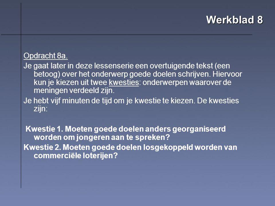 Werkblad 8 Opdracht 8a.