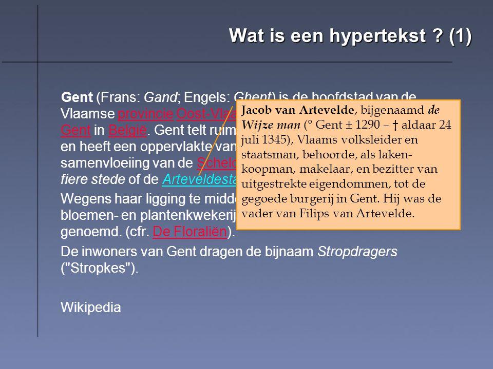 Wat is een hypertekst.