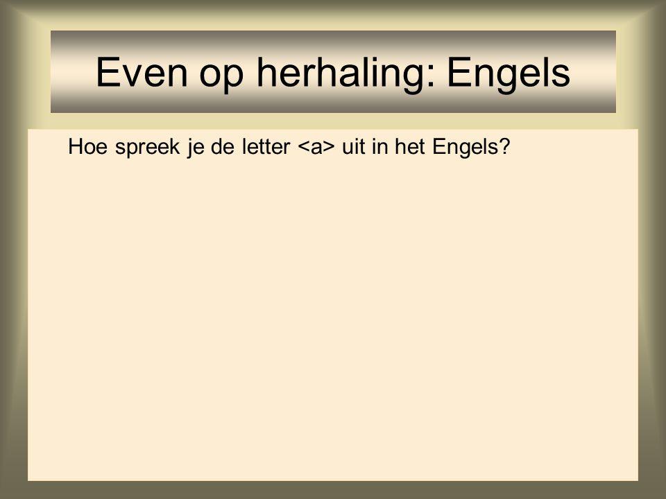 11 Hoe spreek je de letter uit in het Engels? Even op herhaling: Engels