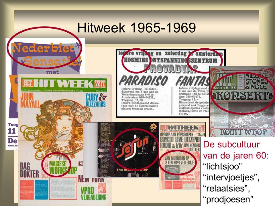 """47 Hitweek 1965-1969 De subcultuur van de jaren 60: """"lichtsjoo"""" """"intervjoetjes"""", """"relaatsies"""", """"prodjoesen"""""""