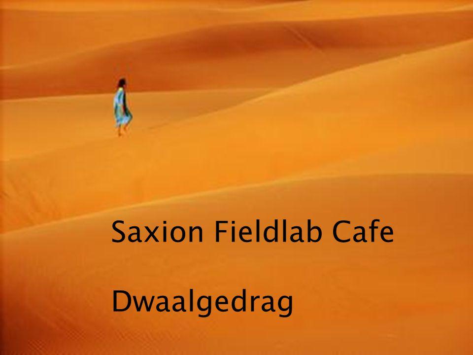 Kom verder. Saxion. Saxion Fieldlab Cafe Dwaalgedrag