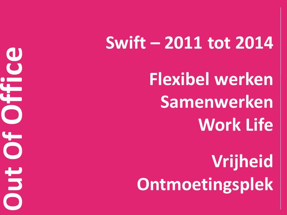 Out Of Office Swift – 2011 tot 2014 Flexibel werken Samenwerken Work Life Vrijheid Ontmoetingsplek