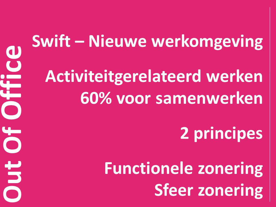 Out Of Office Swift pilot – 200 ambassadeurs