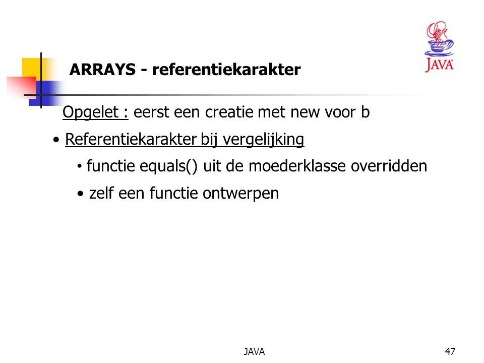 JAVA48 ARRAY als argument van een methode Uitvoer StaafdiagramApplet: