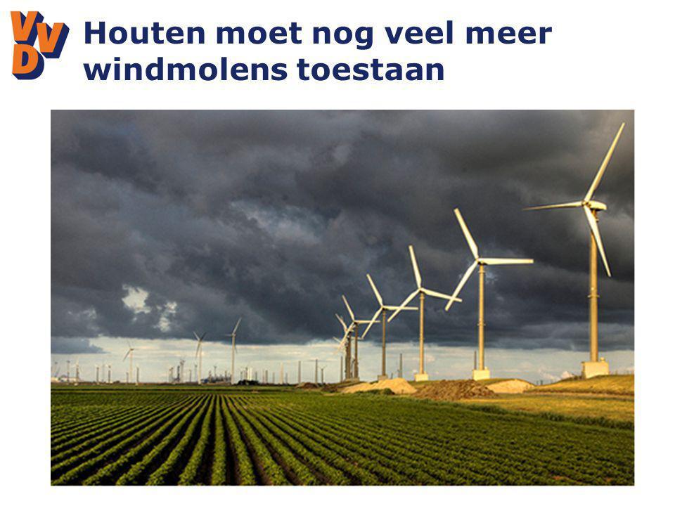 Houten moet nog veel meer windmolens toestaan