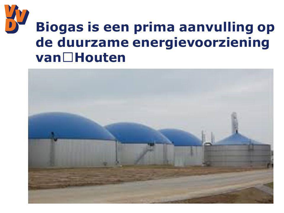 Biogas is een prima aanvulling op de duurzame energievoorziening van Houten