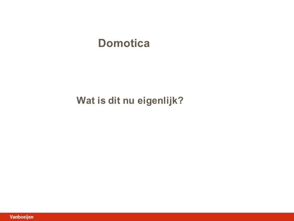Domotica Wat is dit nu eigenlijk?