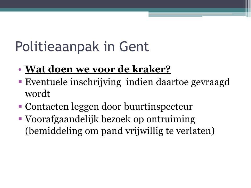 Politieaanpak in Gent Wat doen we voor de kraker.