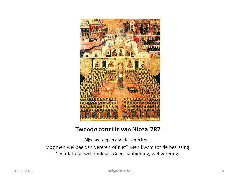 Tweede concilie van Nicea 787 Bijeengeroepen door Keizerin Irene.