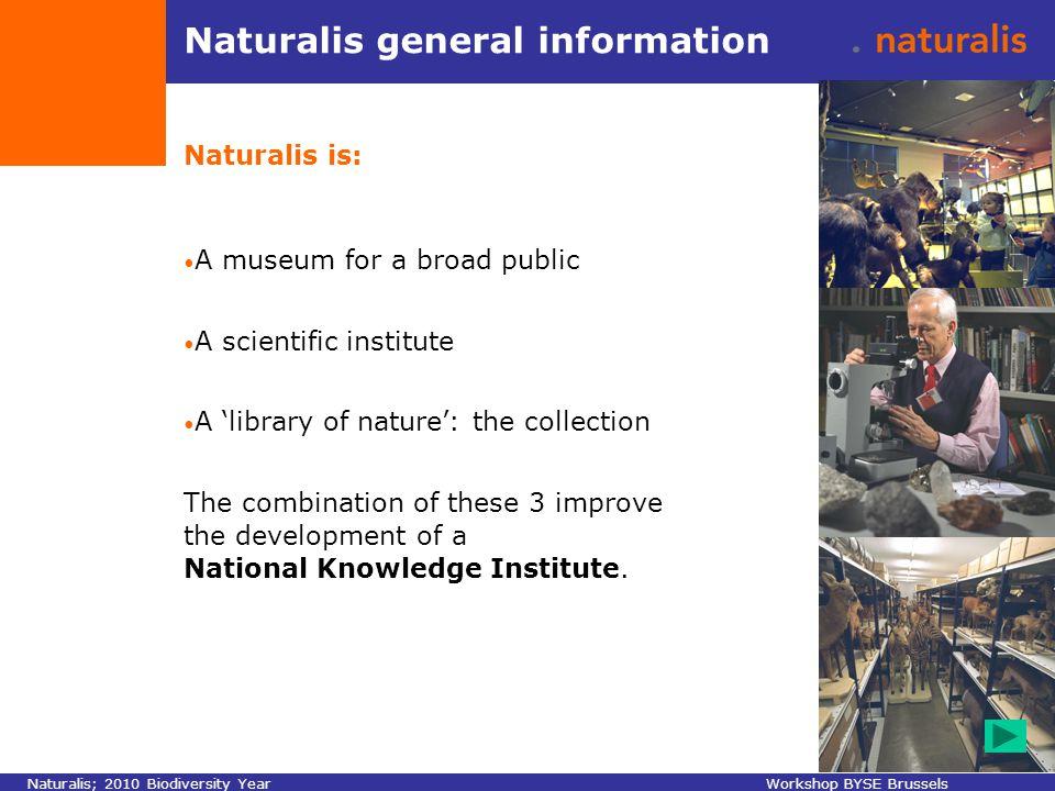 Naturalis activities & other Naturalis; 2010 Biodiversity YearWorkshop BYSE Brussels