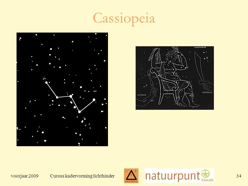 voorjaar 2009 Cursus kadervorming lichthinder 34 Cassiopeia
