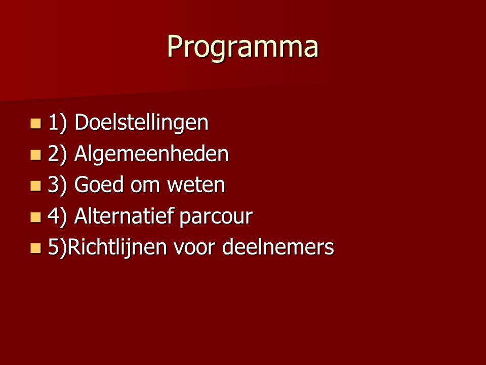 10. Richtlijnen deelnemers ZONE 1 ZONE 2 ZONE 3 RV ZONE 4