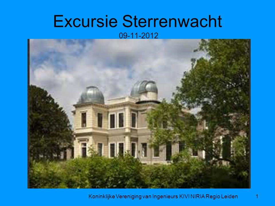 Excursie Sterrenwacht 09-11-2012 Koninklijke Vereniging van Ingenieurs KIVI NIRIA Regio Leiden1
