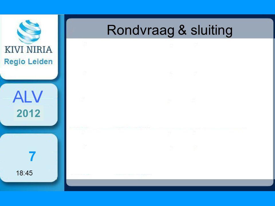Rondvraag & sluiting 7 2012 18:45