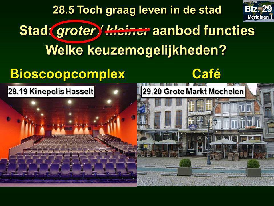 Bioscoopcomplex Stad: groter / kleiner aanbod functies Welke keuzemogelijkheden.