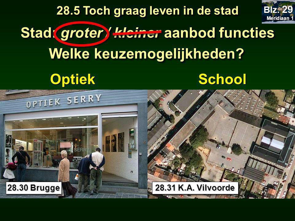OptiekSchool 28.30 Brugge 28.5 Toch graag leven in de stad Meridiaan 1 Meridiaan 1 Blz.