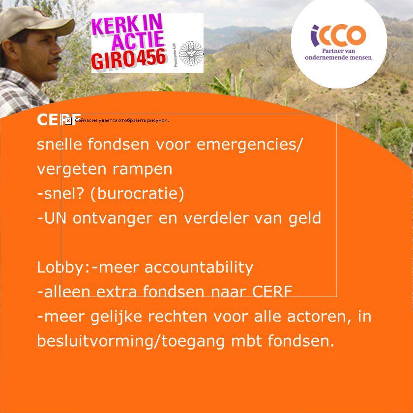 CERF snelle fondsen voor emergencies/ vergeten rampen -snel.