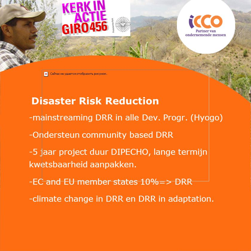 Disaster Risk Reduction -mainstreaming DRR in alle Dev.
