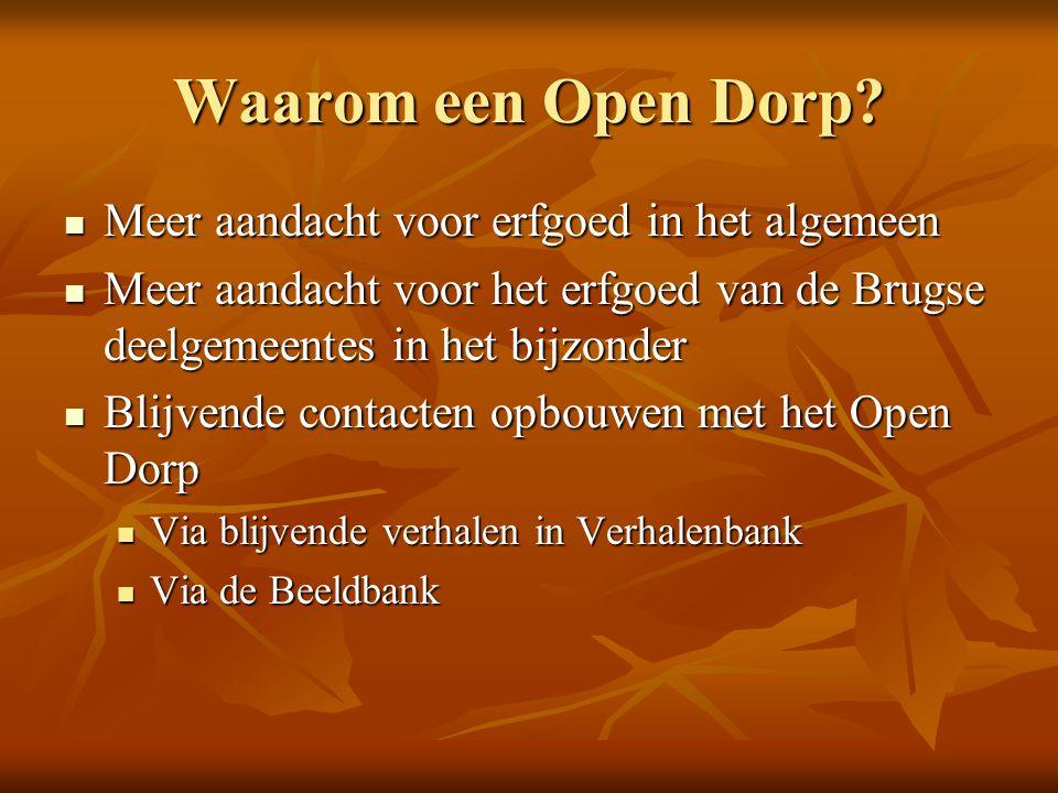 Waarom een Open Dorp.
