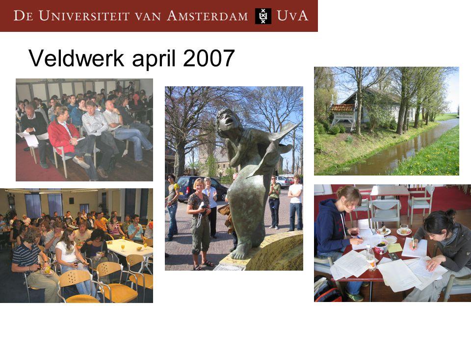Veldwerk april 2007