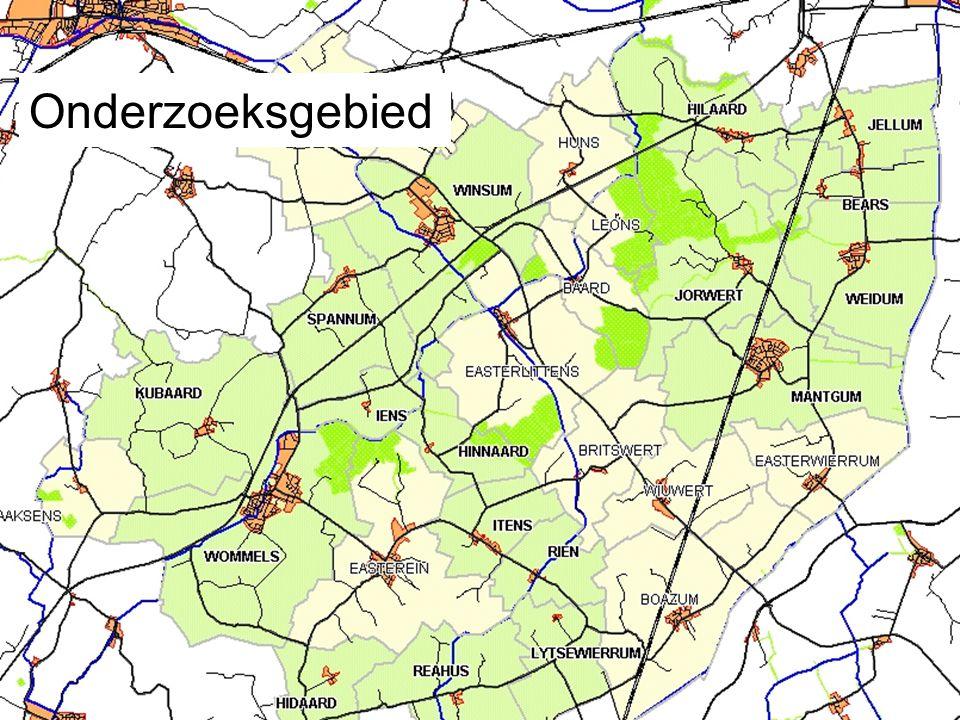 Onderzoeksgebied: 17 dorpen Onderzoeksgebied