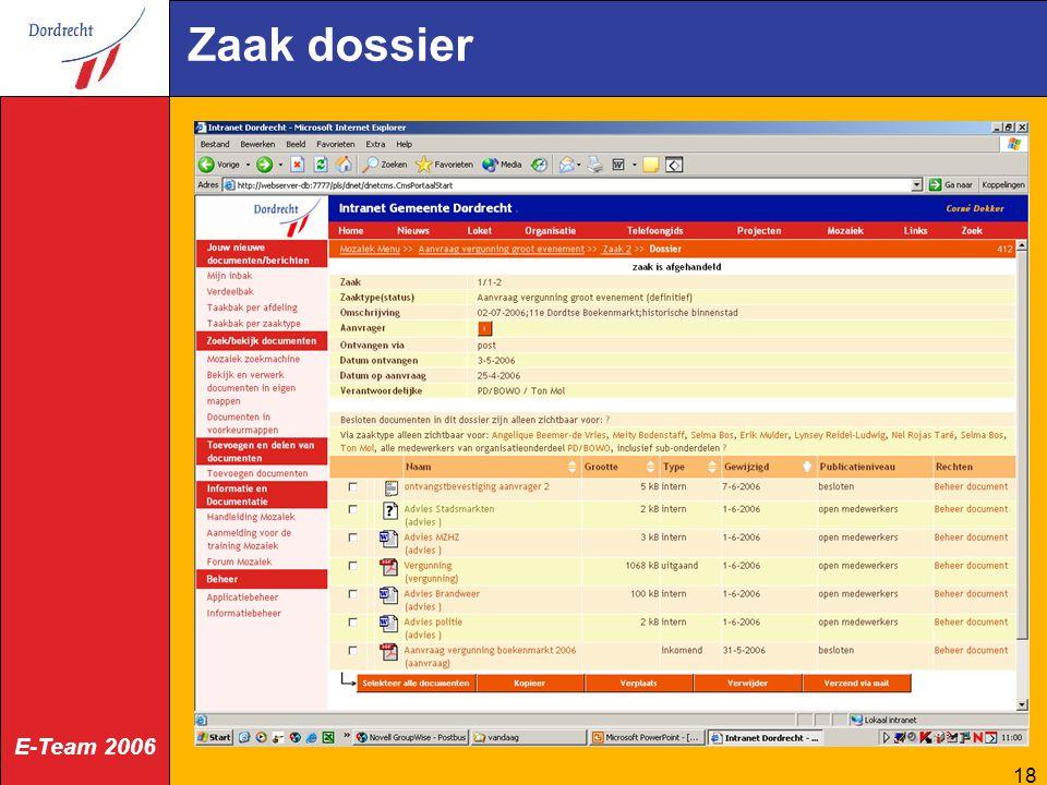 E-Team 2006 18 Zaak dossier
