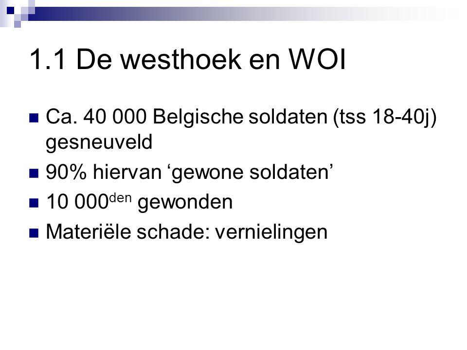 1.1 De westhoek en WOI Ca.