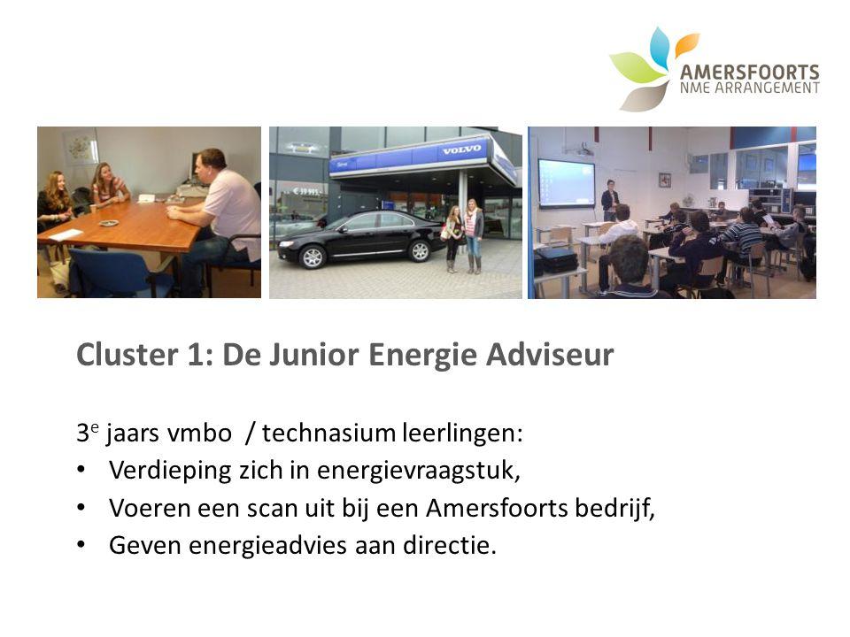 Cluster 1: De Junior Energie Adviseur 3 e jaars vmbo / technasium leerlingen: Verdieping zich in energievraagstuk, Voeren een scan uit bij een Amersfo