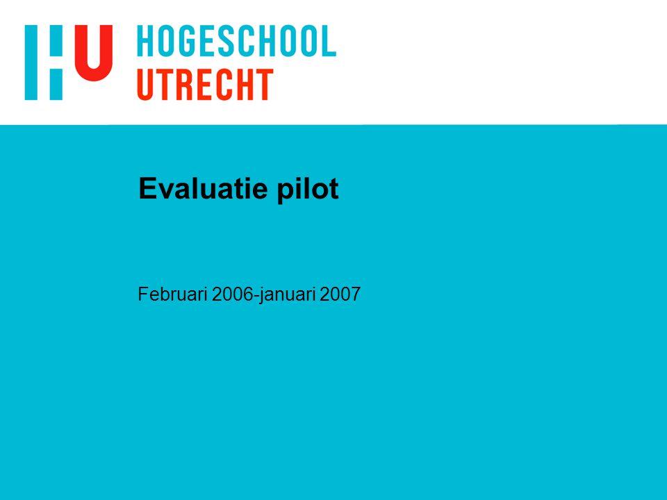 Werkwijze evaluatie n Enquêtes. n Verslagen van studenten. n Gesprekken met de studenten.