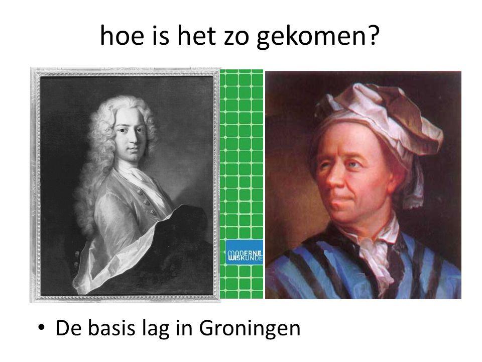 hoe is het zo gekomen? De basis lag in Groningen