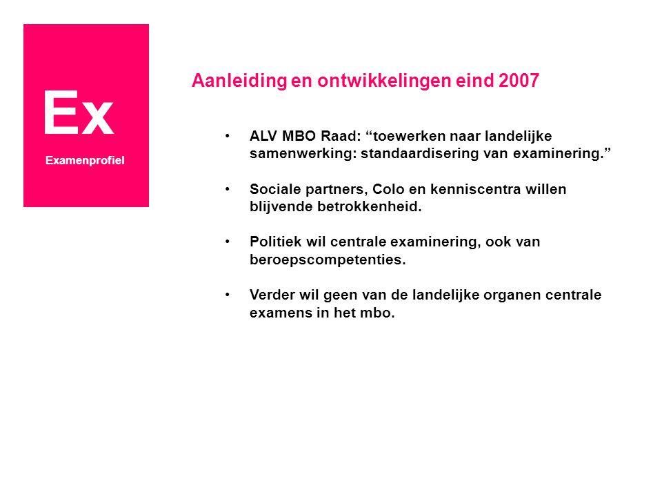 Ex Examenprofiel Wat is daarvan het effect.Herkenbaarheid en kwaliteit mbo-examens.