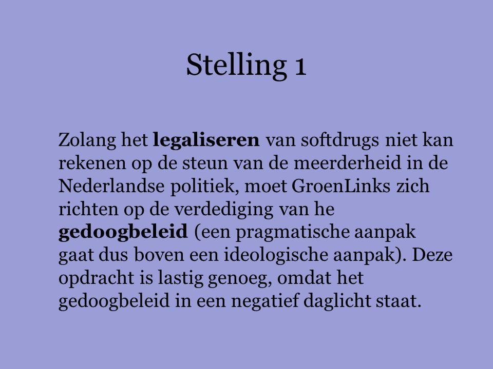 Zolang het legaliseren van softdrugs niet kan rekenen op de steun van de meerderheid in de Nederlandse politiek, moet GroenLinks zich richten op de ve