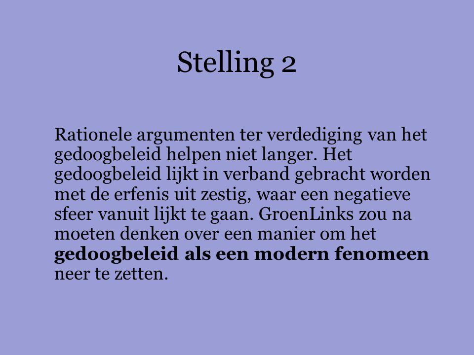 Stelling 3 Nationaliseer het drugsbeleid, wat Wouter Bos kan, kan Ab Klink ook.