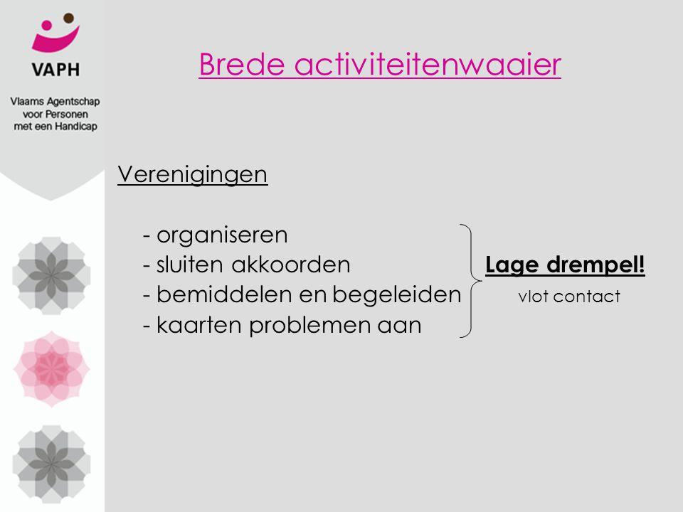 Verenigingen - organiseren - sluiten akkoorden Lage drempel.