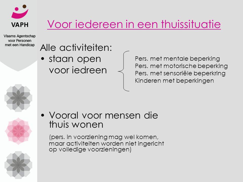 De 20 vrijetijdsverenigingen Waarvan 3 in West Vlaanderen: