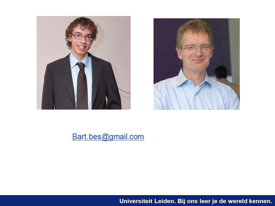 Universiteit Leiden. Bij ons leer je de wereld kennen. Bart.bes@gmail.comBart.bes@gmail.comjoost@liacs.nl