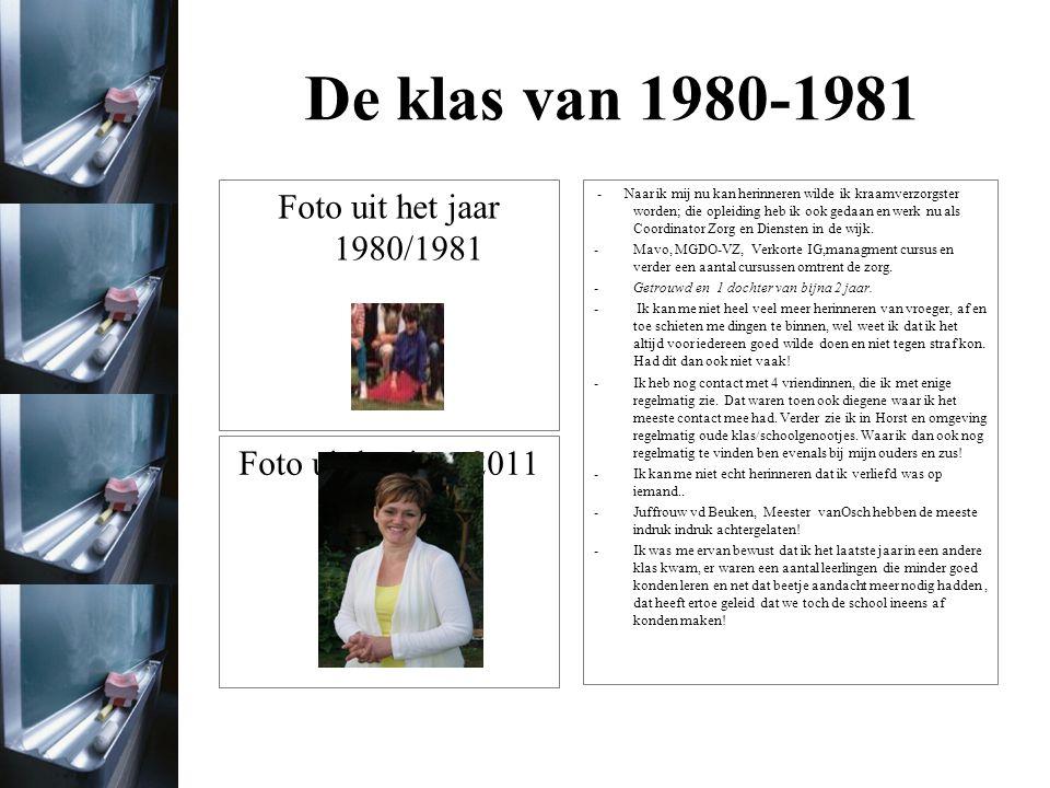 De klas van 1980-1981 Paul Riswick Beroep: Vroeger wilde ik Burgemeester worden, nu ben ik verantwoordelijk voor een afdeling binnen Siemens Healthcare in Den Haag Opleiding: Mavo, MTS, HTS Gezinssituatie: gelukkig getrouwd met Christianne.