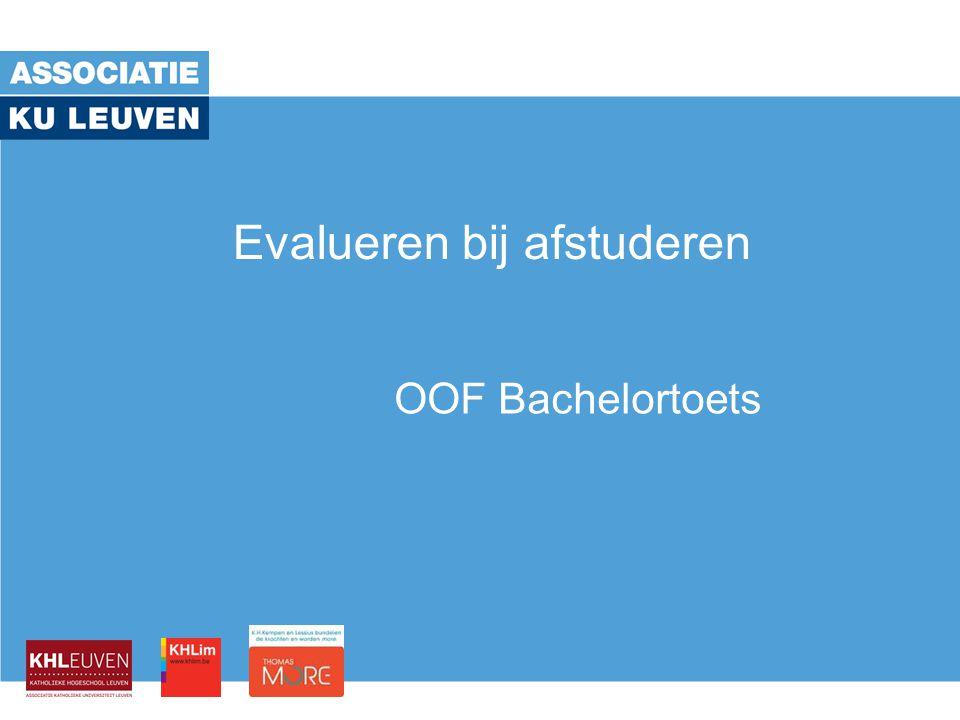 Evalueren bij afstuderen OOF Bachelortoets