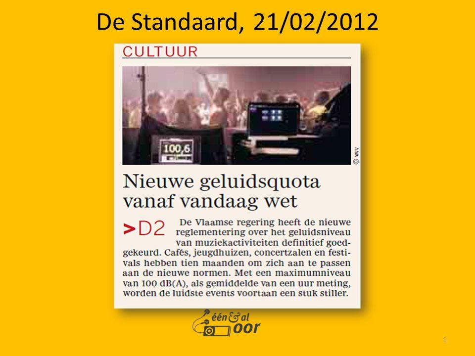 1 De Standaard, 21/02/2012
