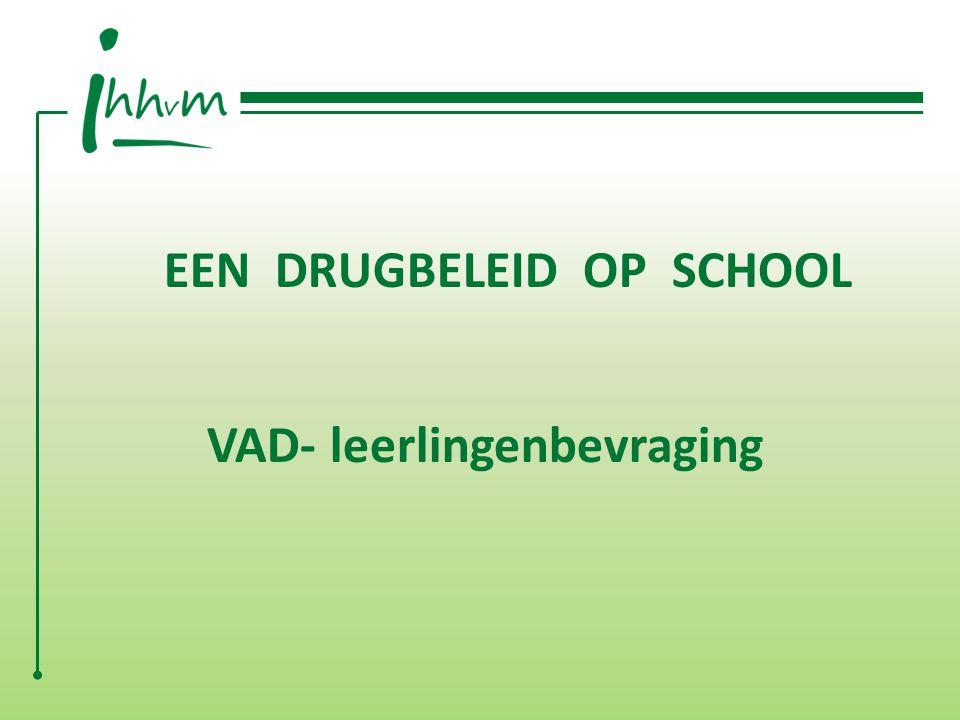 EEN DRUGBELEID OP SCHOOL VAD- leerlingenbevraging