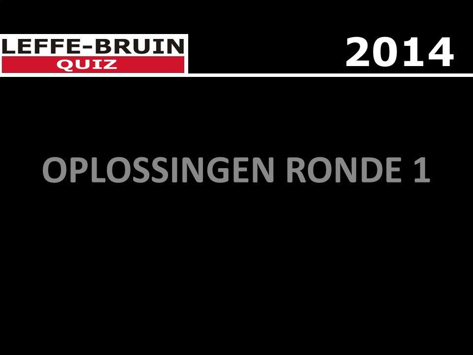 OPLOSSINGEN RONDE 1 2014