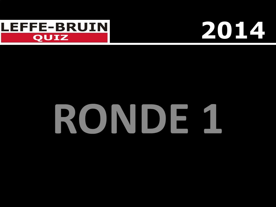 RONDE 1 2014