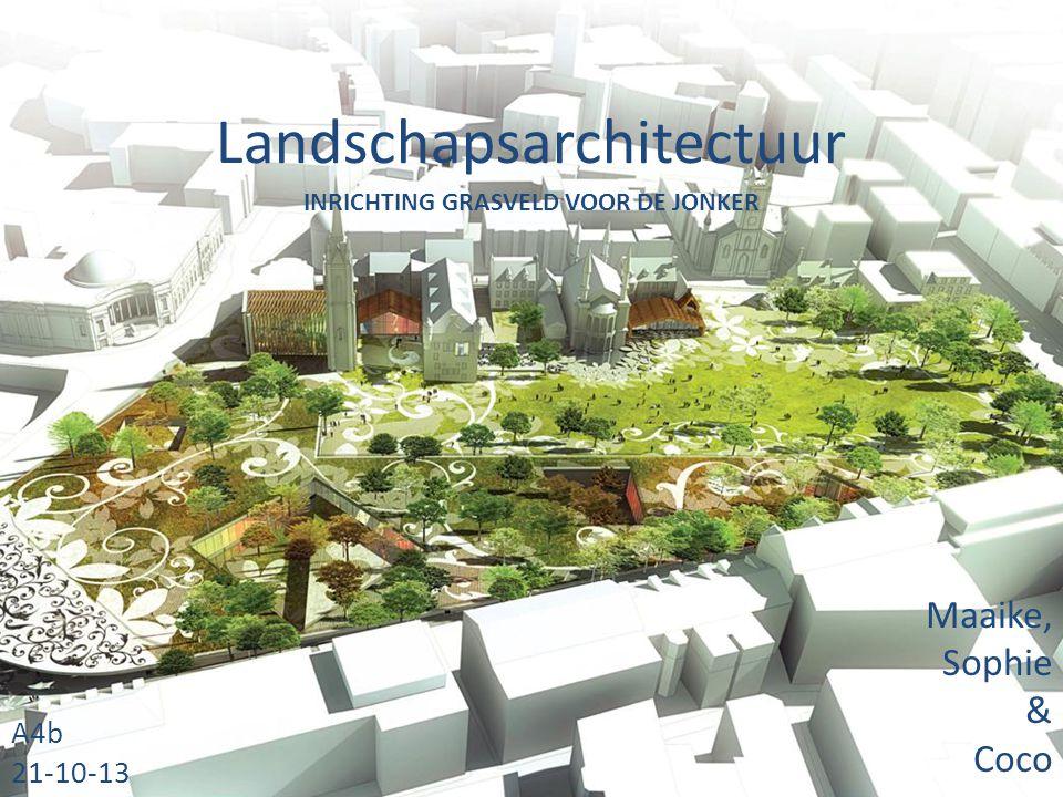 Landschapsarchitectuur Maaike, Sophie & Coco A4b 21-10-13 INRICHTING GRASVELD VOOR DE JONKER