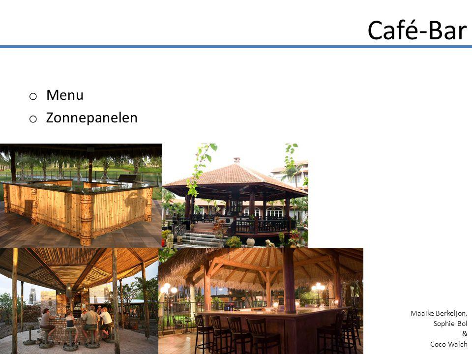 o Menu o Zonnepanelen Café-Bar Maaike Berkeljon, Sophie Bol & Coco Walch
