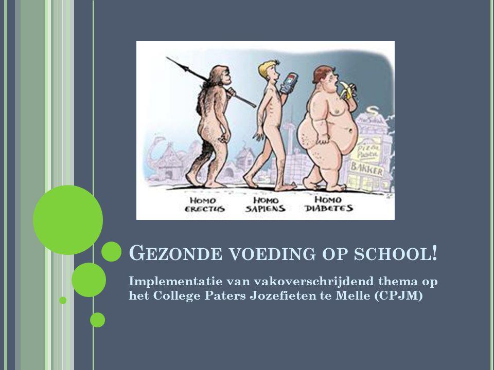 G EZONDE VOEDING OP SCHOOL .