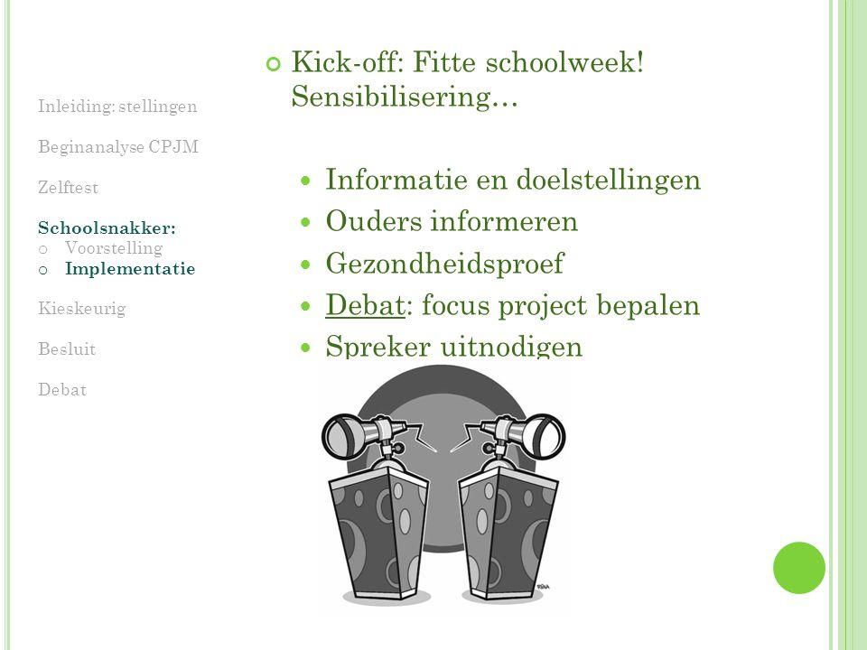 Kick-off: Fitte schoolweek.