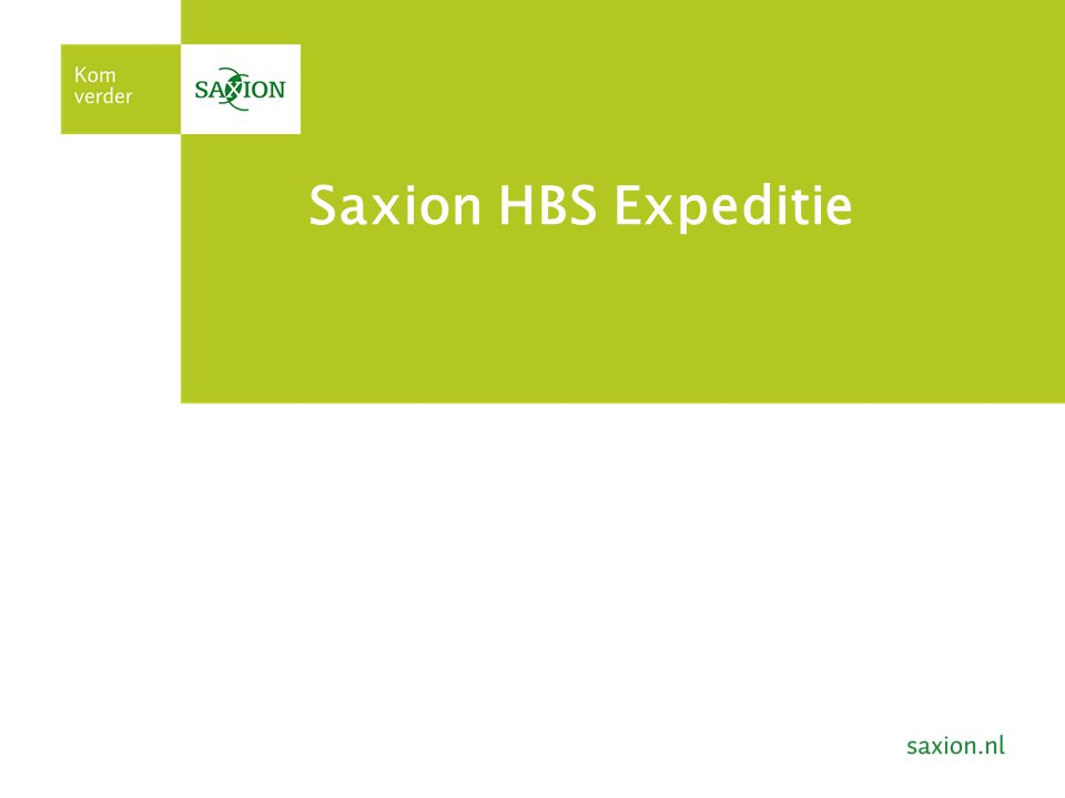 Saxion HBS Expeditie