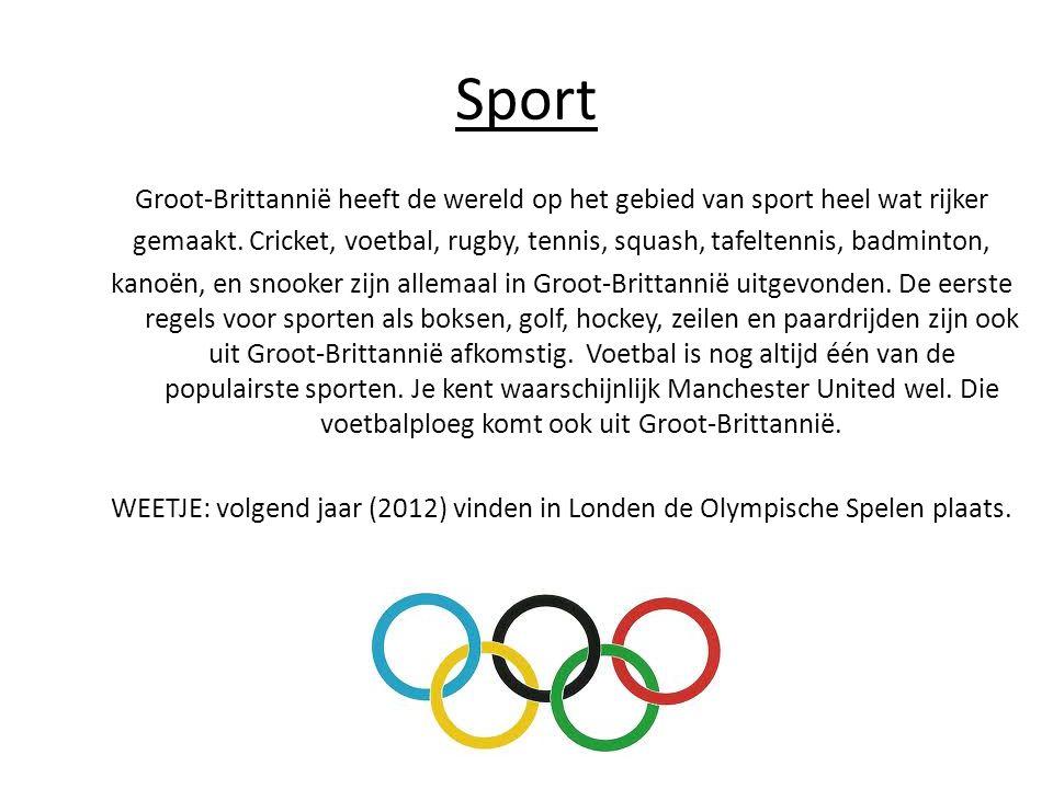 Sport Groot-Brittannië heeft de wereld op het gebied van sport heel wat rijker gemaakt.